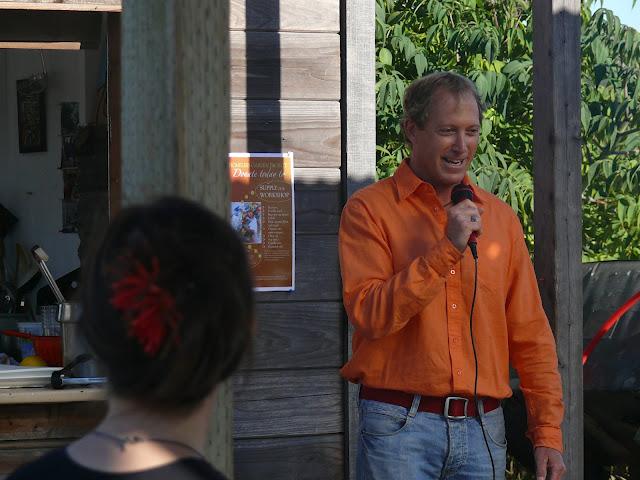 Board member, Andre Lafleur speaks at HGP Fall SUSTAIN dinner
